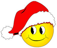 Smiley do Natal Foto de Stock Royalty Free