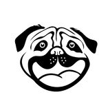 Smiley Dog Face Image libre de droits