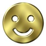 smiley dorato 3D Immagine Stock Libera da Diritti