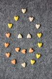 Smiley dos corações Fundo do dia do Valentim Imagem de Stock Royalty Free