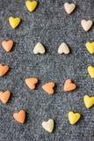 Smiley dos corações Fundo do dia do Valentim Fotos de Stock