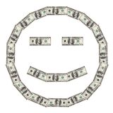 Smiley du dollar heureux Photos stock