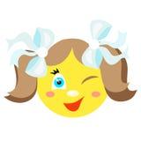 Smiley dziewczyna mruga i ono uśmiecha się Obraz Stock
