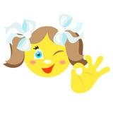 Smiley dziewczyna z gesta ok Fotografia Stock