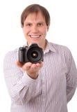 Smiley een jonge mens Royalty-vrije Stock Foto