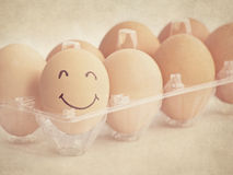 Smiley egg Stock Photography