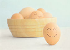 Smiley egg Stock Images