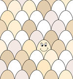 Smiley egg seamless Royalty Free Stock Photos