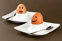 Smiley eggs Royalty Free Stock Image