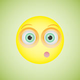 Smiley with an embarrassed emotion. Vector illustration Stock Images