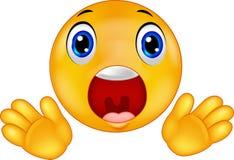 Smiley Emoticon überrascht Stockbild