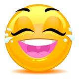 Smiley Emoticon łzy radości twarz ilustracja wektor