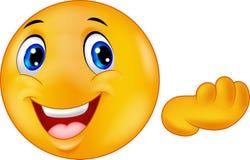 Ευτυχή κινούμενα σχέδια smiley emoticon Στοκ φωτογραφία με δικαίωμα ελεύθερης χρήσης