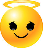 smiley стороны emoticon Стоковое Изображение