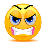 Smiley Emoticon Angry Face Illustration de Vecteur