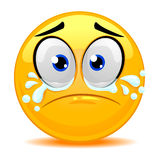 Smiley Emoticon Crying Face. Vector Illustration of Smiley Emoticon Crying Face Royalty Free Stock Photography