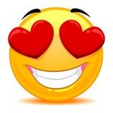 Smiley Emoticon Feeling In-liefde vector illustratie
