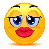 Smiley Emoticon Kissable Lips Photographie stock