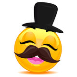 Smiley Emoticon modniś royalty ilustracja