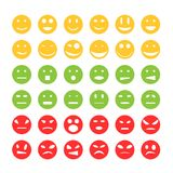 Smiley emoticon pictogrammen Stock Foto