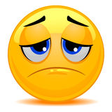 Smiley Emoticon Sad Face Photos libres de droits