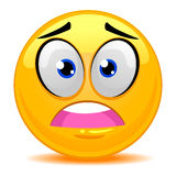 Smiley Emoticon Scared Face Royalty Free Stock Images