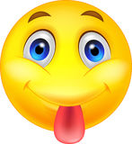 Smiley emoticon sticking out his tongue Stock Photography