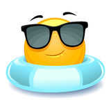 Smiley Emoticon wearing floater. Vector Illustration of Smiley Emoticon wearing floater Stock Images