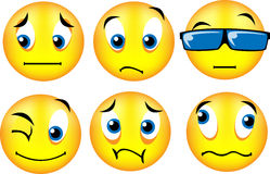Smiley emoticons 2. Vector emoticons with different expression... see portfolio for others expression Stock Image