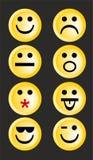 Smiley emoticons διανυσματική απεικόνιση