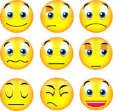Smiley emoticons. Vector emoticons with different expression Stock Photo