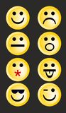 Smiley emoticons Stock Image