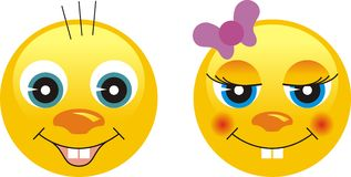 Smiley Emotion Faces Royalty Free Stock Photos