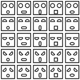 Smiley emotion faces Stock Image
