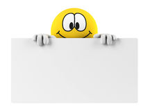 Smiley with an empty board Stock Images
