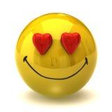 Smiley en amor stock de ilustración