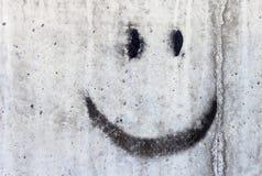 Smiley en la pared Foto de archivo