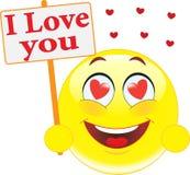 Smiley. Erklärung der Liebe. Lizenzfreies Stockfoto