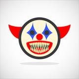 Smiley espeluznante del payaso ilustración del vector