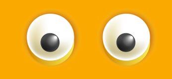 Smiley eyes isolated cartoon vector illustration Stock Photography