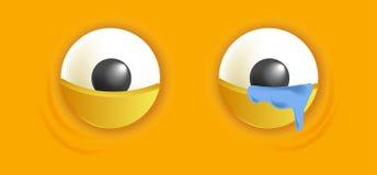 Smiley eyes isolated cartoon vector illustration Stock Photo