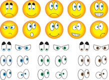 Smiley eyes Royalty Free Stock Image