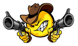 smiley för cowboyillustrationlogo Royaltyfri Foto