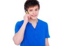 smiley för mobiltelefongrabbholding arkivfoton