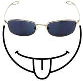 smiley f śmieszne klejenia język Fotografia Royalty Free
