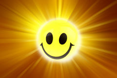 Smiley face. On bright background Stock Image