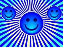 Smiley face. With color abstract Royalty Free Stock Image