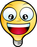 Smiley Face. Icon. lighting bulb character laughing Royalty Free Stock Photos