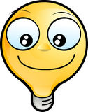 Smiley face. Icon. lighting bulb character smiling Stock Image