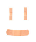 Smiley face adhesive bandages Royalty Free Stock Photo